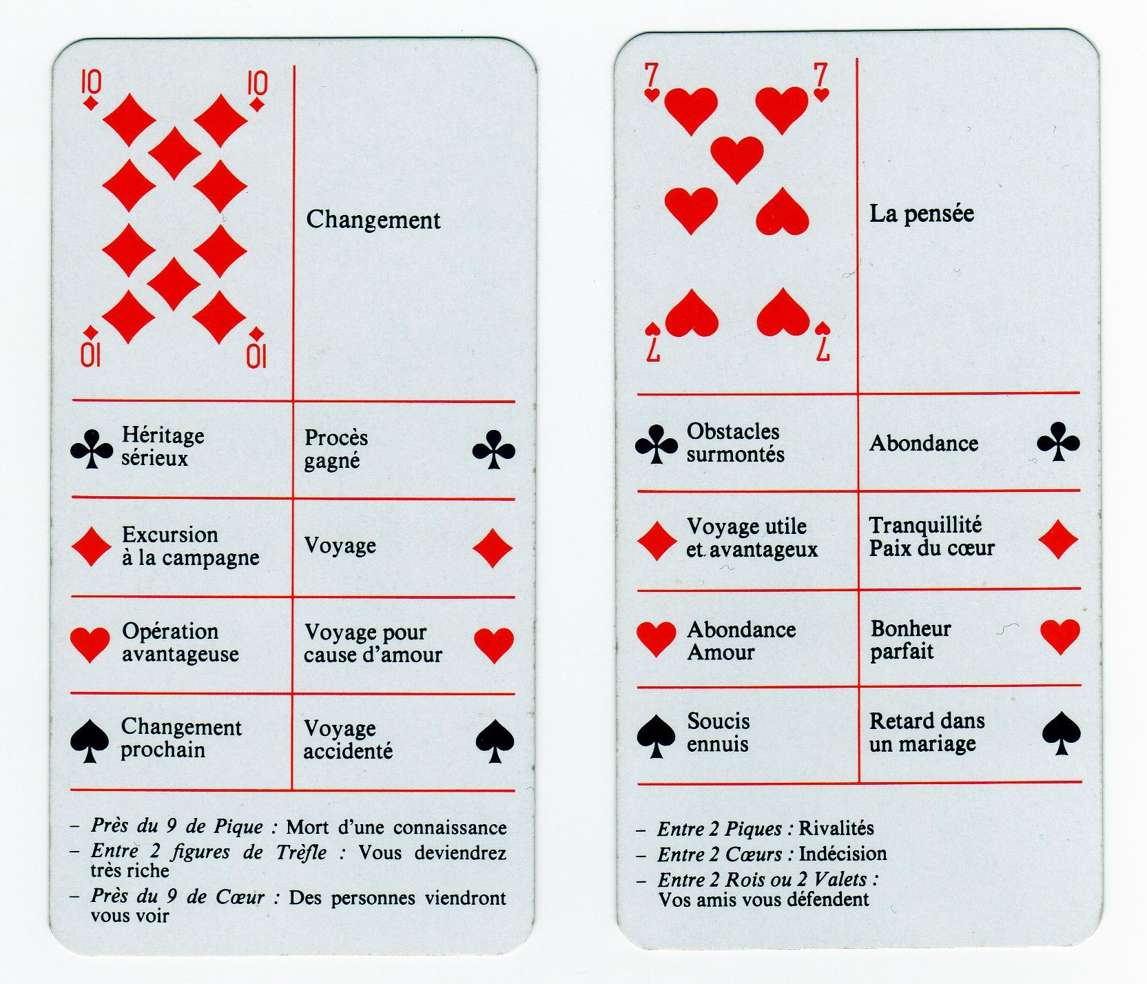 jeu de carte a 2 32 cartes Jeu Divinatoire 32 Cartes CARTOMANTIC Carte Livret